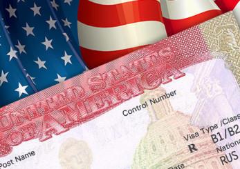 Флаг США и виза