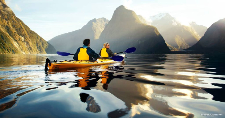 Туристы в Новой Зеландии