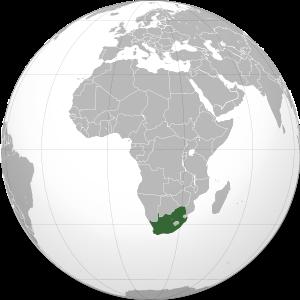 ЮАР на карте