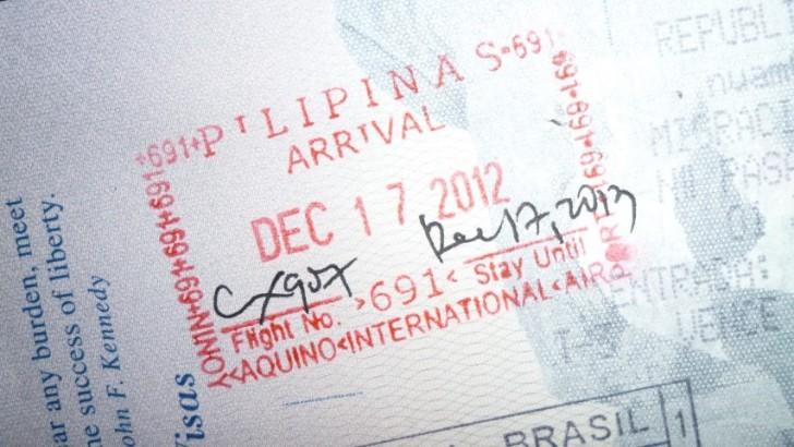 Филиппинский штамп в загранпаспорте