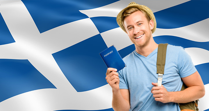 Турист с визой в Грецию
