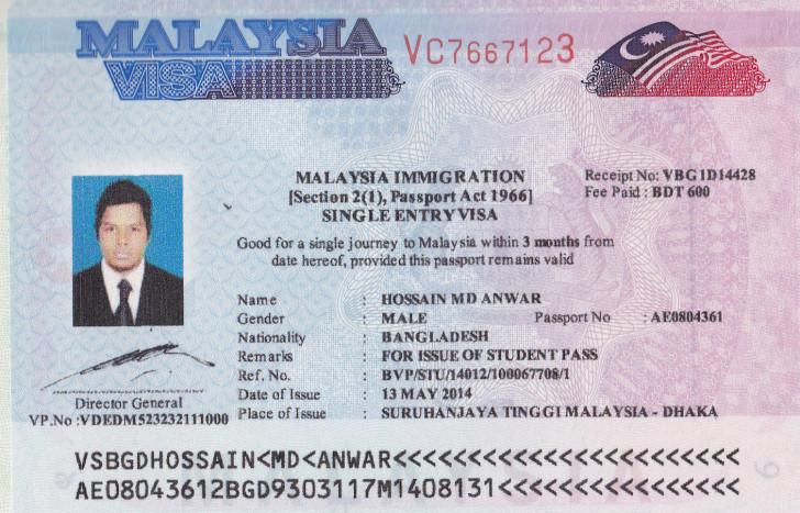 Виза в Малайзию