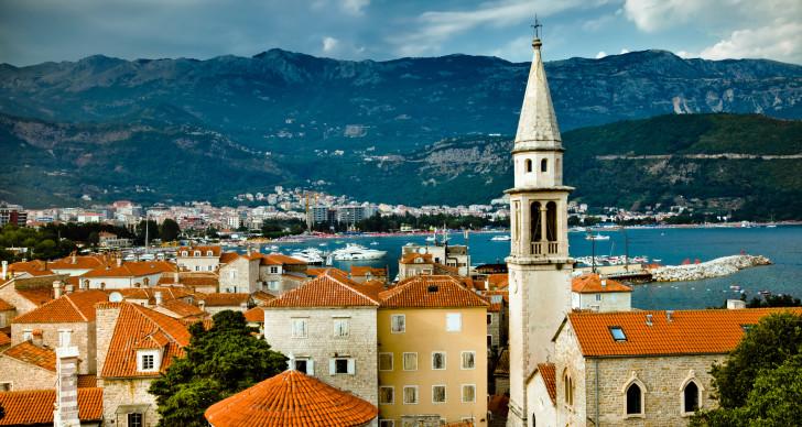 Город Будва в Черногории