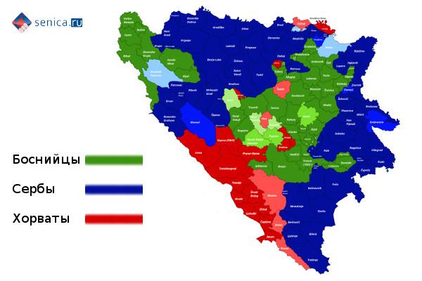 Этническая карта Боснии и Герцеговины